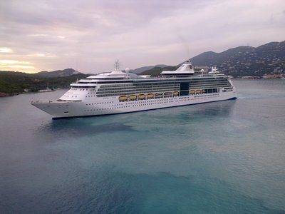 With 3 other mega cruise ships in beautiful Charlotte Amalie, St. Thomas, US Virgin Islands