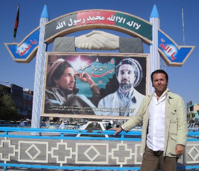 Mazar-i-Sharif, Afghanistan, monument to Ahmad Shah Massoud