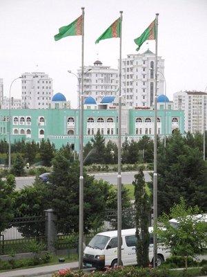 View from Hotel Prezident over Ashgabat