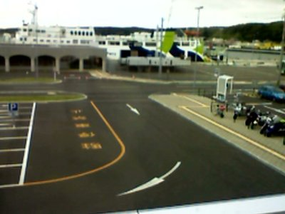 "The Ferry Terminal in Wakkanai with ""Eins Soya"" in the background"