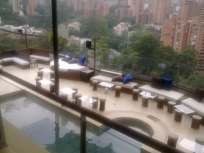 "The fantastic rooftop pool and bar at world-class ""The Charlee"" Hotel Medellin"