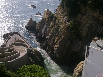 The famous Acapulco cliff, 40m from the top