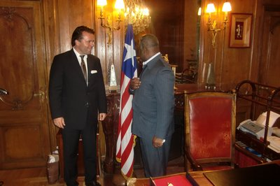 "Paris. Meeting ""The Ambassador""."