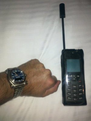 A satellite phone will save money on the extremely high cell roaming or onboard phone charges
