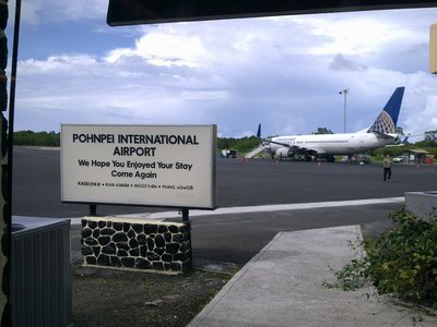 At Pohnpei Airport.
