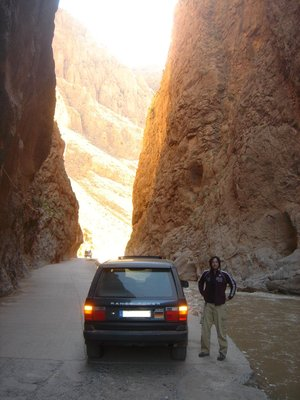 Morocco, Friend Craig at Gorges du Todra