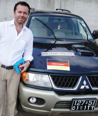 German Military Police Car in Djibouti (Ouch, a Mitsubishi !)