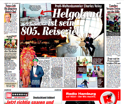 Charles' visit to Helgoland and The Atlantic Hotel, Hamburg