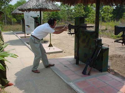 Like the archetypical tourist, firing weapons at Cu Chi