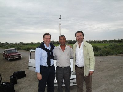 "Great team. ""24 Hours of Le Stans"" non-stop, 1.500km from Termez via Nukus to Ashgabat."