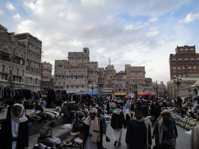 Old Town of Sanaa at Bab el Yemen Gate