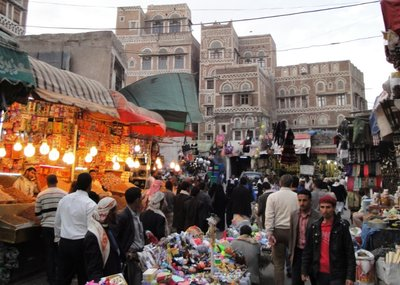 Souk in Sanaa Old Town