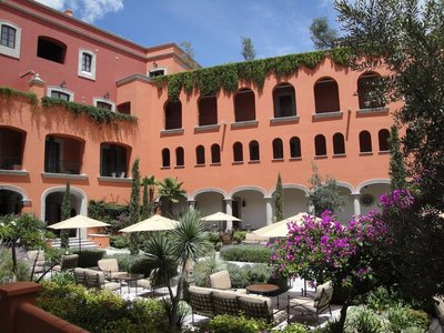At the Rosewood Hotel in San Miguel de Allende.