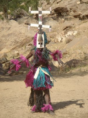 Mali, near Burkina Faso border, Dogon Masque Dance