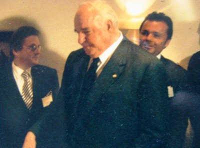 With Helmut Kohl - and Senator Burkei who tragically died as a Taj Mahal guest in the Mumbai attacks