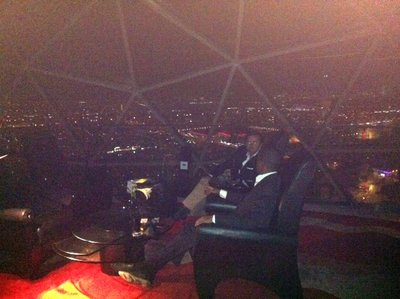 The perfect GLOBE cigar lounge in the 31st floor of Al Faisaliyah Tower in Riyadh
