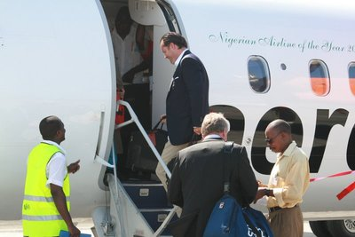 "Instead boarding Aerocontractors - ""Nigeria's Airline of the Year"""