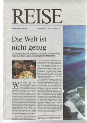 "Article in Süddeutsche Zeitung ""The world is not enough"""