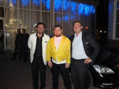 Visiting President Ramzan Kadyrov in Grozny with best friend Harald