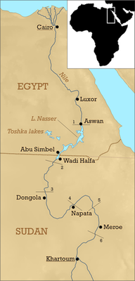 The Nile and its Cataracts. Source: Wikipedia