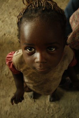 Little girl at 'City of Hope' displacement camp in Kinshasa