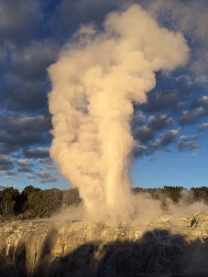 geyser at sunset 1