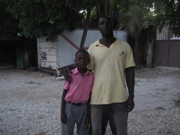 Djalove with papa Jacques