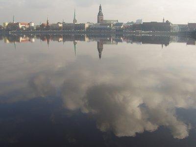 Riga and the Daugava River