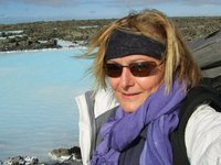 Me a little wind blown at the Blue Lagoon