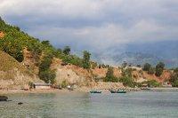 A native fishing village in timor leste