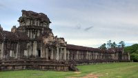 Section view of Angkor Wat Cambodia in HDR