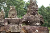 Warrior statues at Angkor Wat Cambodia
