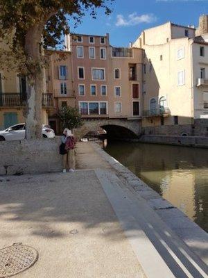 Narbonne - Pont des Marchands over the Canal de la Robine
