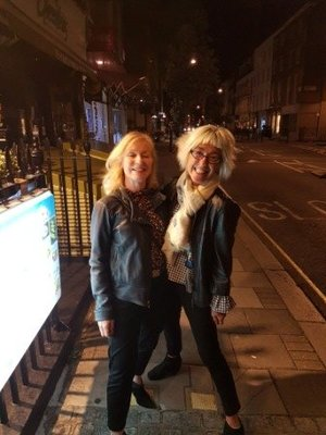 Marylebone - Karen and Jeni outside Two Point Thai