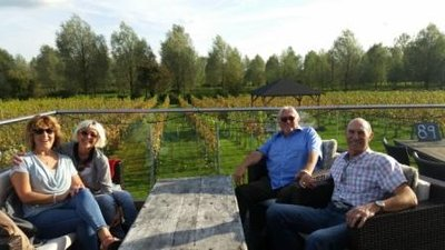 Coggeshall - Carole, Jeni, Kevin and Steve at the West Street Winery