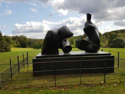 Hampstead Heath - Henry Moore sculpture in Kenwood grounds