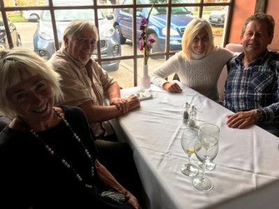 Long Melford - Jeni, Kevin, Elaine and Paul for Elaine's 62nd at Marsala restauranr