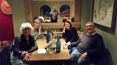 Shrewsbury - Jeni, Jo, Kevin, Branwyn and Rob at Olive Tree