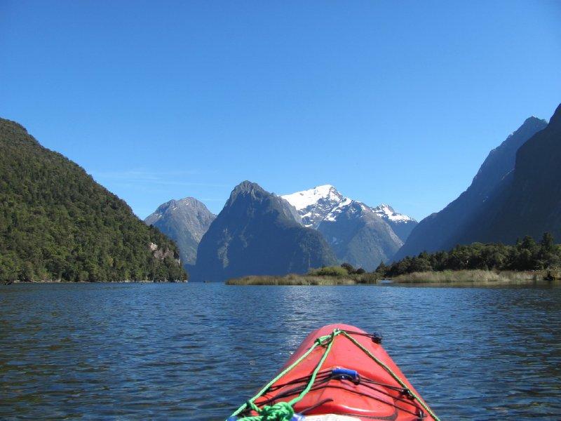 Kayaking the milford sound