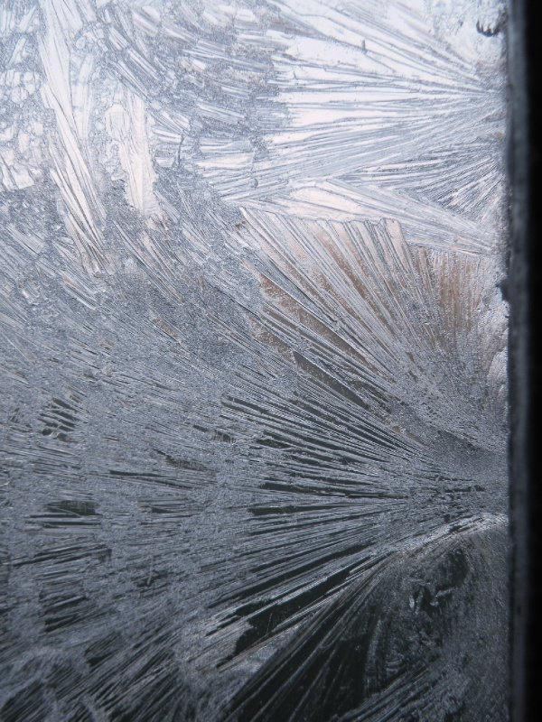 The bathroom window after a night of minus 8 I'm sure!!