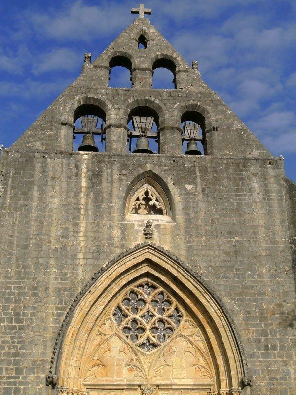 Tri-belled church in Montcabriere