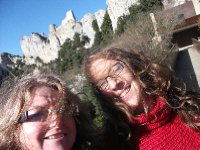 Ann and Moi at Cathar castle of Peyrepertuse