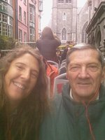 My big Boet and moi on the hop on bus in Dublin