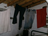 My room and and my wet clothes