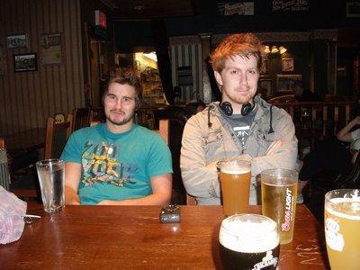 Bramm and Chris in the Irish Pub