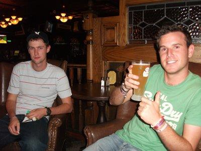 Rob and Scott at the Irish Bar