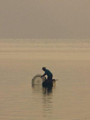 Lago de Atitlan, Guatemala -  Local Fisherman