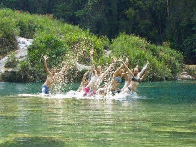Semuc Champey, Guatemala - Sychronised Swimming