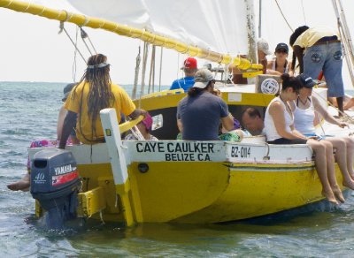 Caye Caulker, Belize - Heading out on Ragamuffin Snorkle Trip