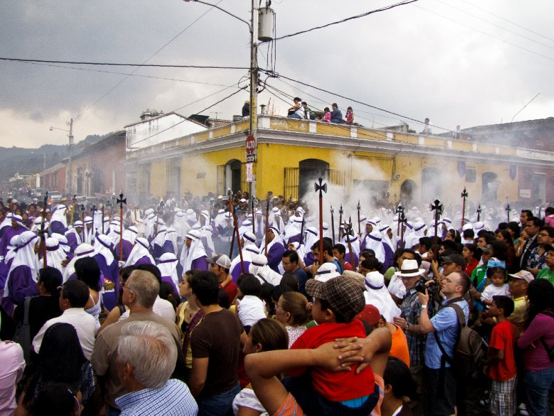 Antigua, Guatemala - Watching the Parades